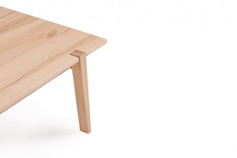 Couchtisch Tisch CESARE Kernbuche Massivholz 120x65 cm - Vorschau 2