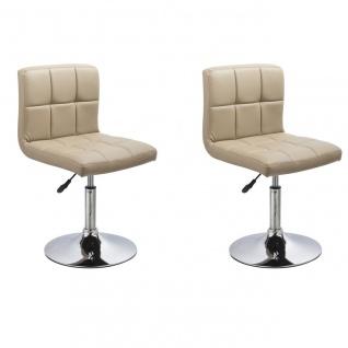 Esszimmerstühle Stuhle Küchenstuhl 2er Set - Bari - Cappuccino
