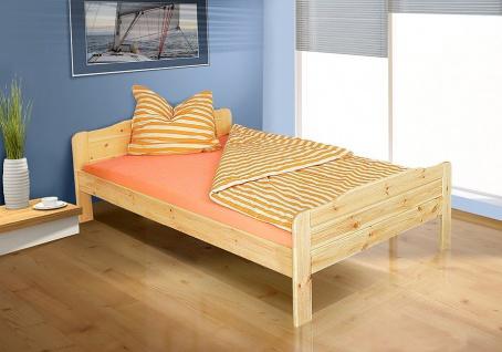 Tagesbett-Bett - WiLMA- Kiefer / Natur Lackiert inkl. Rollrost 140x200 cm