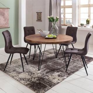 Esszimmertisch Tisch MAILO 120x120 cm Landhaus-Stil Sheesham Voll-Holz