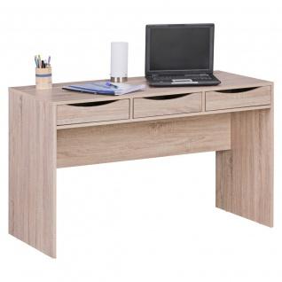 Schreibtisch Bürotisch - ARIK - mit 3 Schubladen Sonoma Eiche
