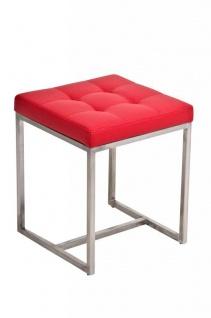 Sitzhocker Brit 2 Hocker Sessel Kunstleder Rot 40x40cm Kaufen