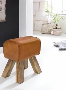 Hocker Sitzhocker Sitzbank BULL Massivholz 40x25x47cm