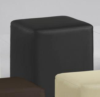 Sitzwürfel Sitzhocker Hocker - KUBUS - Kunstleder Grau 40x40x45 cm