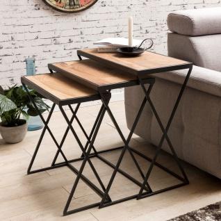 Beistelltische Tische 3er Set URBAN Akazie Massivholz