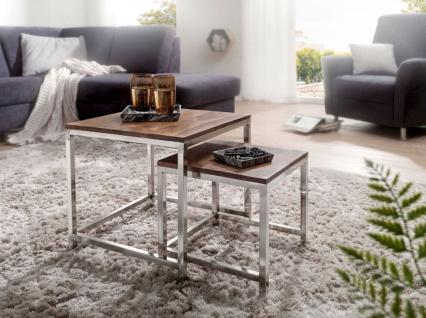 Couchtisch Beistelltisch Tisch 2er Set NUKA Sheesham Massivholz