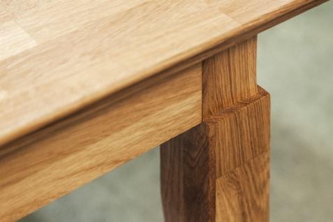 Esstisch Tisch ausziehbar LENNES Kernbuche geölt Natur 120/165x100 cm - Vorschau 2