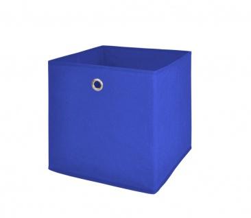 Faltbox Box Stoffbox- Delta - Größe: 32 x 32 cm / 3er Set - Blau