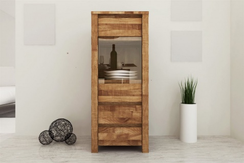 Highboard Kommode MAISON Kernbuche massiv geölt 45x112x45 cm
