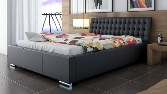 Polsterbett Bett Doppelbett DIVO 140x200cm inkl.Bettkasten