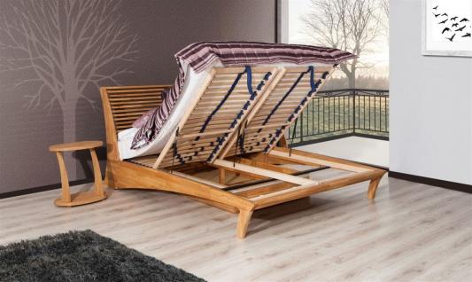Massivholzbett Bett Schlafzimmerbett FRESNO Eiche massiv 140x200 cm - Vorschau 2