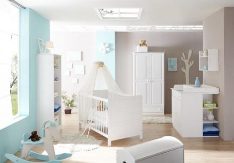 Babyzimmer Set SANDY in Kiefer Weiss 5-tlg