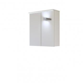 Badezimmer Spiegelschrank 60 cm LAXY Weiss Hochglanz inkl.LED
