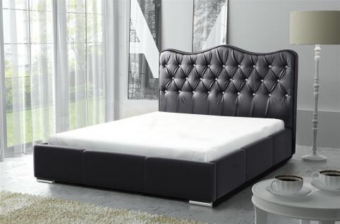 Polsterbett Bett Komplettset SULTAN Kunstleder Schwarz 140x200cm