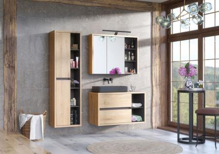Badmöbel Set 3-tlg Badezimmerset MARINA ohne Waschtisch