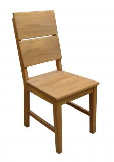 Esszimmerstühle Stuhle 2er Set Massivholz Eiche Geölt - ERIC