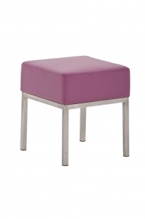 Sitzhocker - LONI 2 - Hocker Sessel Kunstleder Lila 40x40 cm