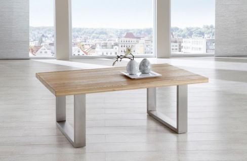 Couchtisch Tisch KENO Eiche vollmassiv geölt 110 x 70 cm - Vorschau 1