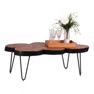 Couchtisch Massivholztisch WABEN 110x60 cm Holz Akazie