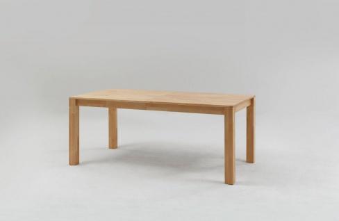 Esstisch Funktionstisch SIERO Tisch 120/200 x 80 Wildeiche massiv