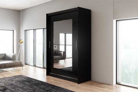 Schiebetürenschrank Schrank DOLM 12 Schwarz matt 150x218 cm