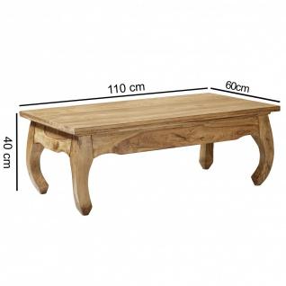 Couchtisch Massivholztisch OPUS 110x60 cm Holz Akazie - Vorschau 3