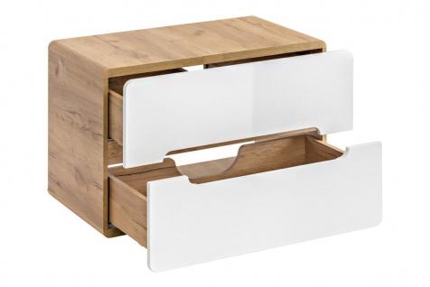 Badmöbel Set 8-tlg Badezimmerset FERMO Weiss HGL inkl. Waschtisch - Vorschau 2