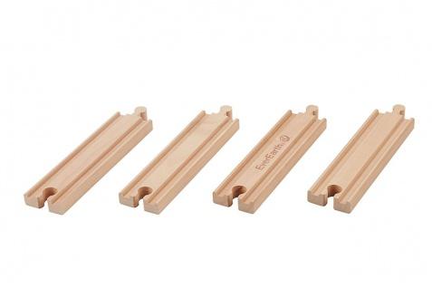 Holzspielzeug - Eisenbahn Schienen Set. Gerade