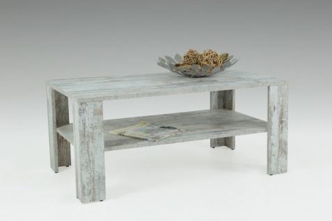 Couchtisch Tisch Loco 100x60 cm mit Ablageboden Vintage Eiche