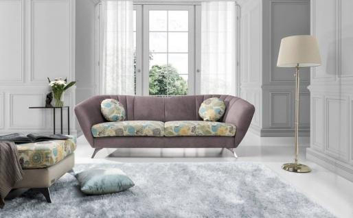 Sofa 3-Sitzer ELISABETH Polyesterstoff Grau / Muster 240x85x90 cm
