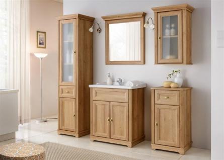 Badmöbel Set 5-tlg Badezimmerset MADERA Eiche inkl.Waschtisch 60 cm