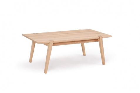 Couchtisch Tisch CESARE Wildeiche Massivholz 120x65 cm
