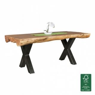 Esszimmertisch Tisch WOOD 180 x 90 cm Akazie Landhaus-Stil Voll-Holz