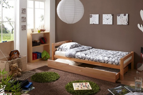 Tagesbett-Bett SALIN Buche Massiv 90x200 cm inkl.Schubkasten