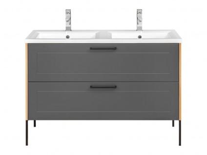 Waschbeckenunterschrank PANTIN Grau inkl.Waschtisch 120cm