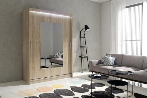 Schiebetürenschrank Schrank DOLM 06 Sonoma matt 150x215 cm inkl.LED