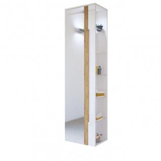 Badezimmer Hängeschrank 170x45x33cm LAXY Weiss Hochglanz