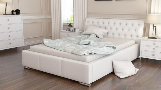 Polsterbett Bett Doppelbett BIAGIO 180x200cm inkl.Lattenrost