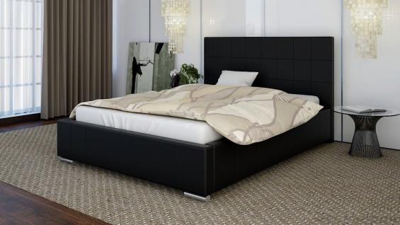 Polsterbett Bett Doppelbett GIORGIO XL 180x200cm inkl.Bettkasten - Vorschau 1