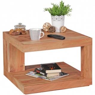 Couchtisch Massivholztisch AMAR 58x58 cm Holz Akazie Landhaus-Stil