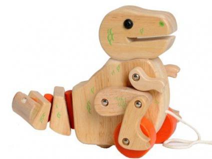 Holzspielzeug - Nachzieh-T-Rex