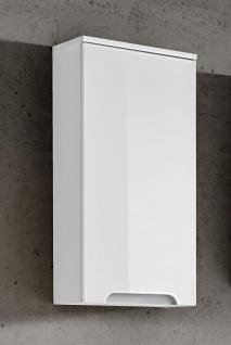 Badezimmer Hängeschrank 75x35x20cm LAXY Weiss Hochglanz