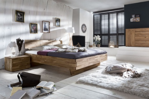 Massivholzbett Schlafzimmerbett - ELO - Bett Wildeiche 160x200 cm