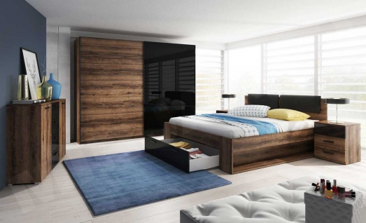 Schlafzimmer Set 5 tlg DANTOS inkl.Doppelbett 180cm und Schrank 200cm