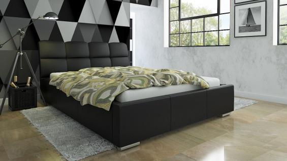 Polsterbett Bett Doppelbett CATELLO 140x200cm inkl.Bettkasten