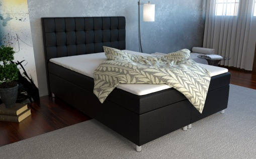 Boxspringbett Schlafzimmerbett KIANO 160x200cm inkl.Bettkasten
