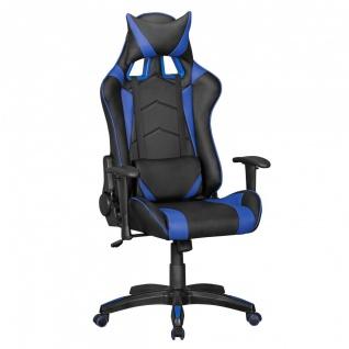 Drehstuhl Bürostuhl Chefsessel GAMING 1- Schwarz / Blau