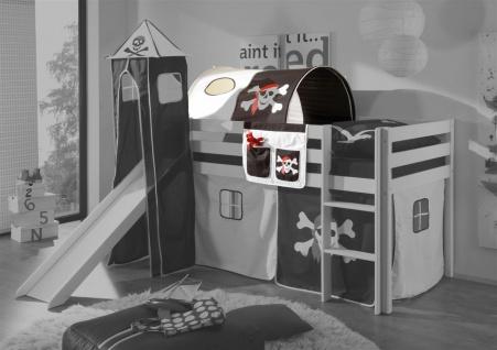 Tunnel Pirat /Schwarz für Spielbett Hochbett Etagenbett +Tasche