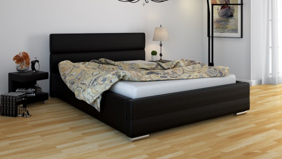 Polsterbett Bett Doppelbett PIERO 200x200cm inkl.Bettkasten