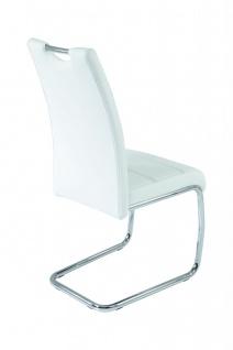 Esszimmerstühle Stuhl Freischwinger 4er Set ELENI Weiss - Vorschau 2